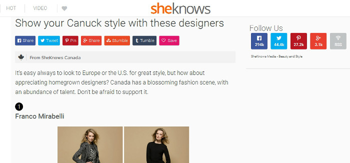 Canadian designers to watch for at SheKnows