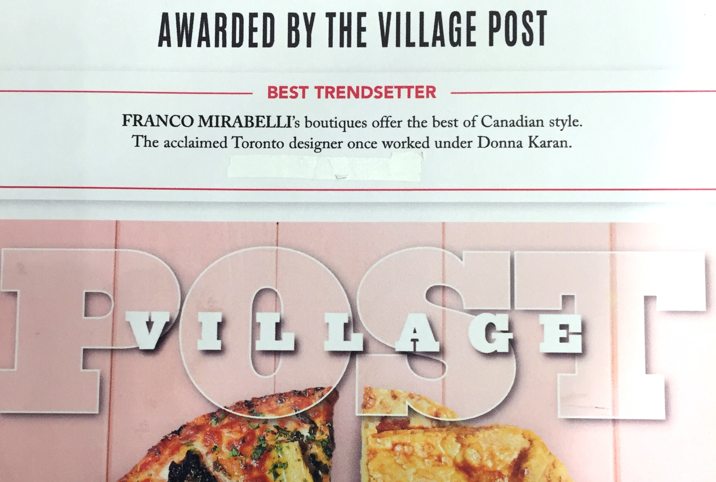 Village Post Names Franco Mirabelli Best Trendsetter of 2018